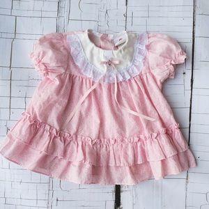 80s Vintage baby dress 12 M
